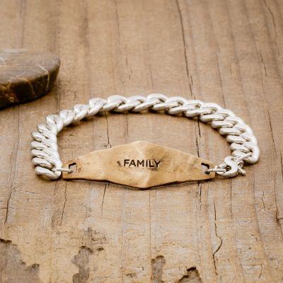 Identity Bracelet [Sterling Silver + Bronze]