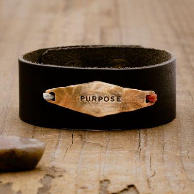 Black Identity Leather Cuff [Bronze]