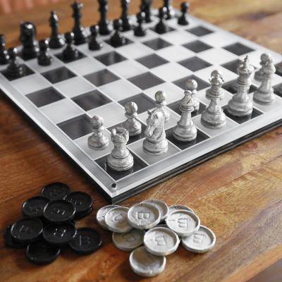 End Game Chess and Checker Set