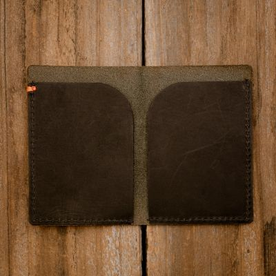 Side by Side Minimalist Wallet [Black]