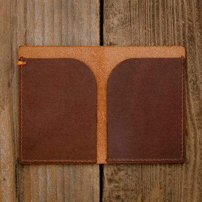 Side by Side Minimalist Wallet [Brown]