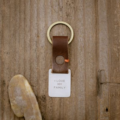 Stability Custom Key Ring [Brown]