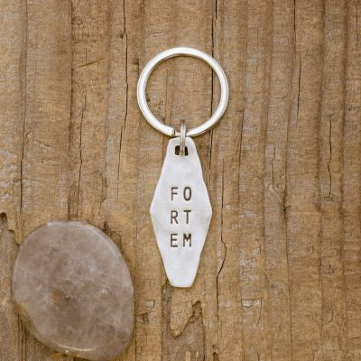 Fortem Identity Tag Key Ring [Pewter]