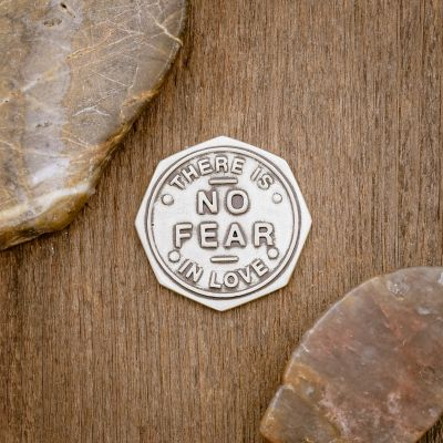 No Fear in Love Pocket Coin [Sterling Silver]