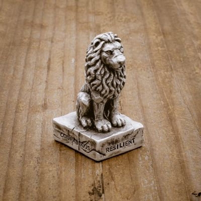Lionheart Paperweight [Pewter]