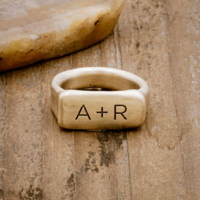 MAKE YOUR MARK (14K GOLD) SIGNET RING
