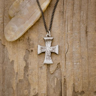 Flourish Cross Necklace [Sterling Silver]