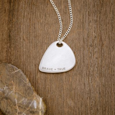 Shaper's Guitar Pick Necklace [Sterling Silver]
