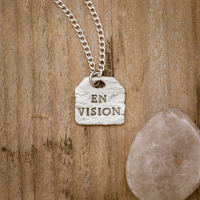 Envision Tag Necklace [Pewter]