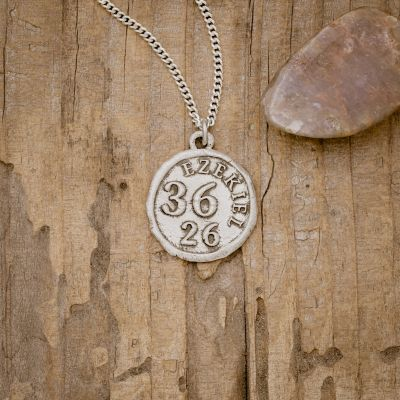 Ezekiel 36:26 Coin Necklace [Sterling Silver]