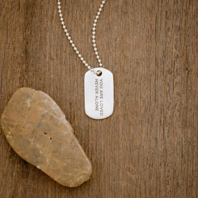 Lasting Bond Dog Tag Necklace Small [Sterling Silver]