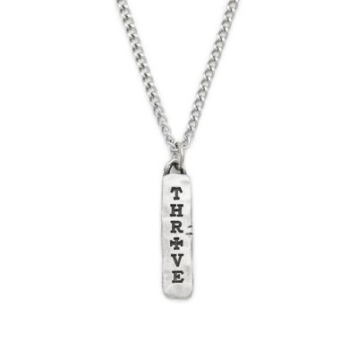 Thrive Tablet Necklace [Pewter]