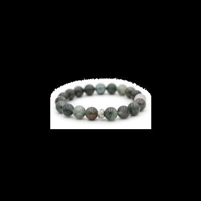 Blood Stone Beaded Bracelet