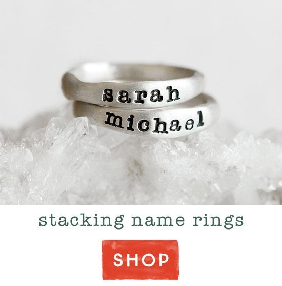 Stacking name rings